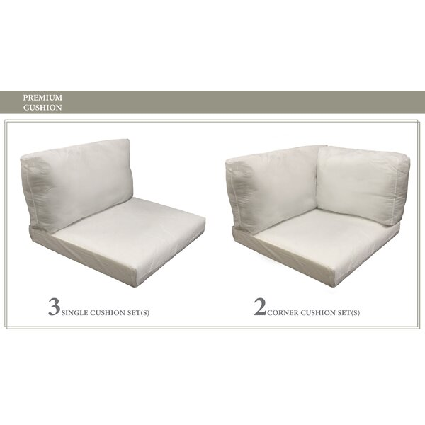 Monaco Outdoor 12 Piece Lounge Chair Cushion Set by TK Classics TK Classics