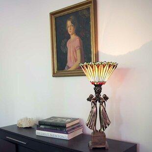 Online Reviews Crews Art Deco Table TopTiffany 27 Torchiere Lamp By Fleur De Lis Living