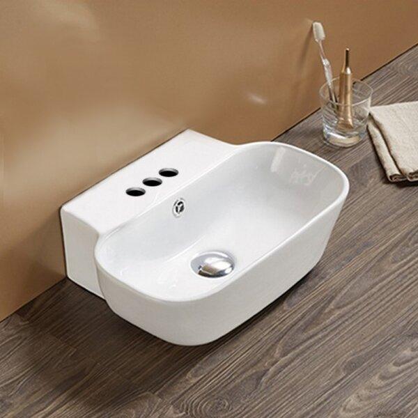 Ceramic Rectangular Vessel Batroom Sink with Overflow