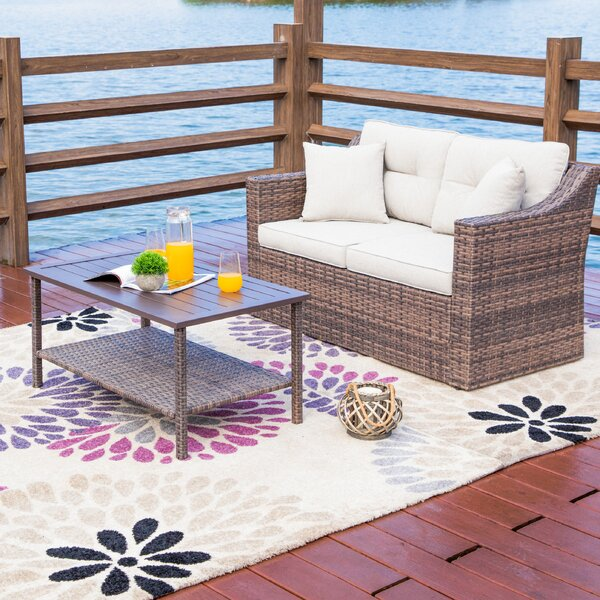 Kunkle 2 Piece Sofa Seating Group with Cushions by Highland Dunes