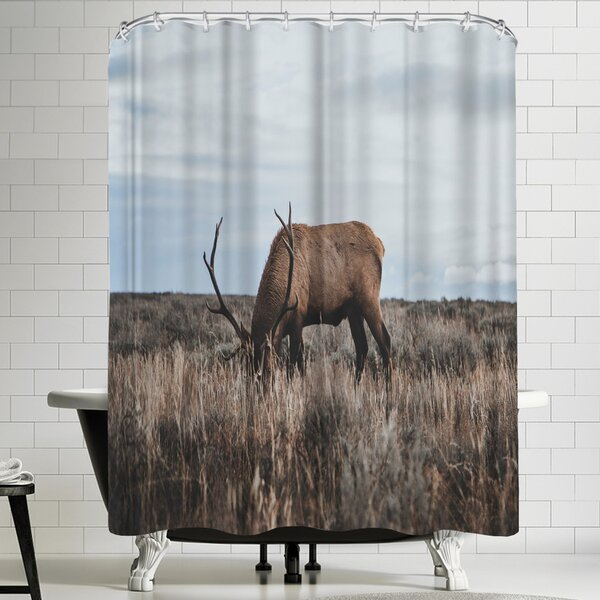Luke Gram Wyoming USA Shower Curtain by East Urban Home
