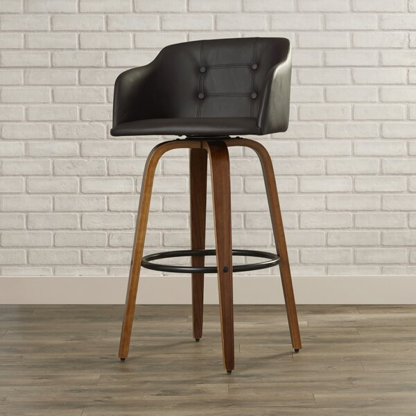 Rockport 28.25 Swivel Bar Stool by Langley Street