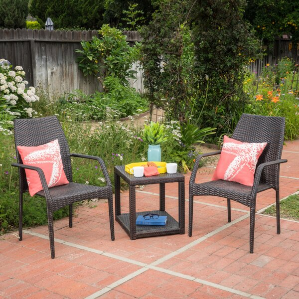 Phelps 3 Piece Rattan Seating Group by Ebern Designs
