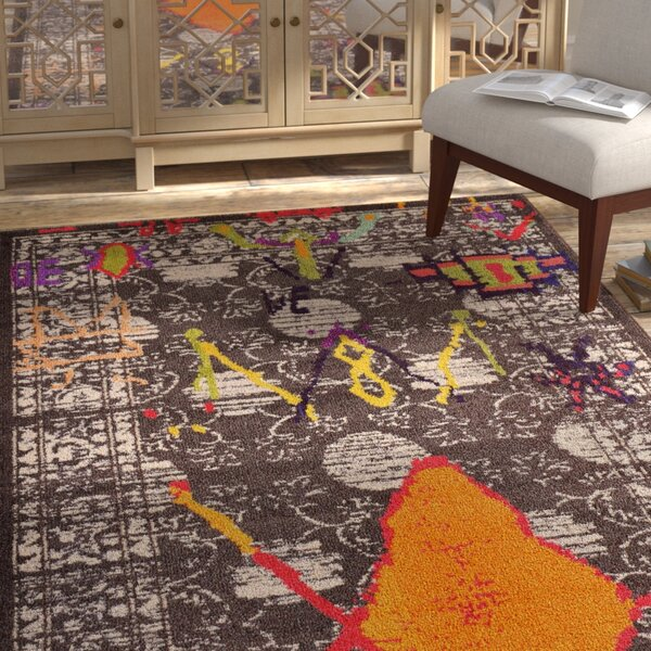 Phillips Brown Area Rug by Bungalow Rose