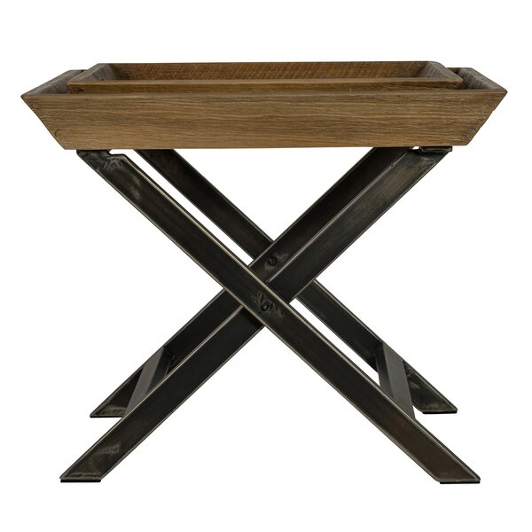Richardson End Table with Tray Top by Union Rustic