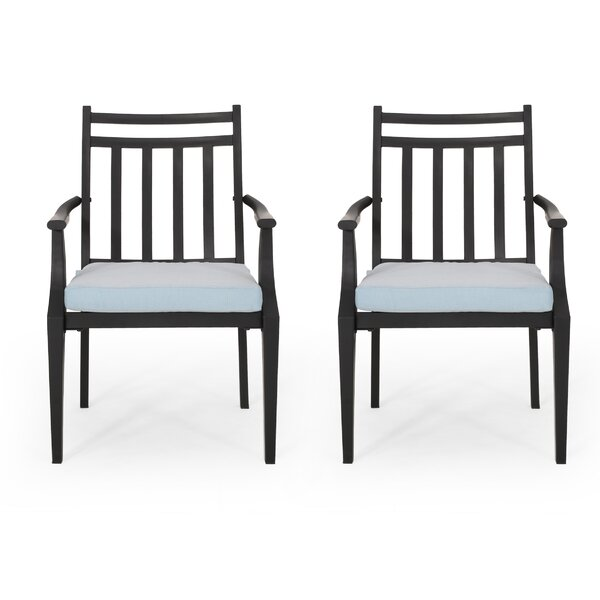 Johnstown Patio Dining Chair with Cushion (Set of 2) by Gracie Oaks Gracie Oaks