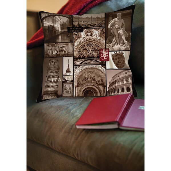 Italy Printed Throw Pillow by Manual Woodworkers & Weavers