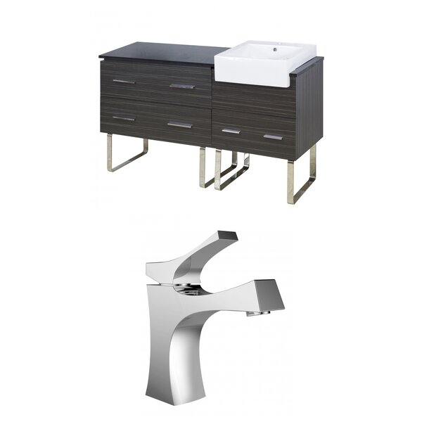 Mulberry Floor Mount 61 Single Bathroom Plywood Vanity Set by Royal Purple Bath Kitchen
