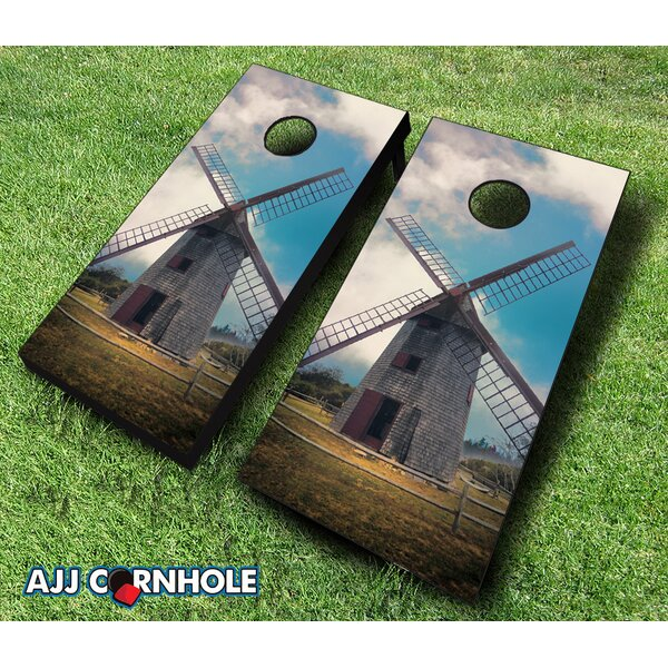 Nantucket Island Windmill Cornhole Set by AJJ Cornhole