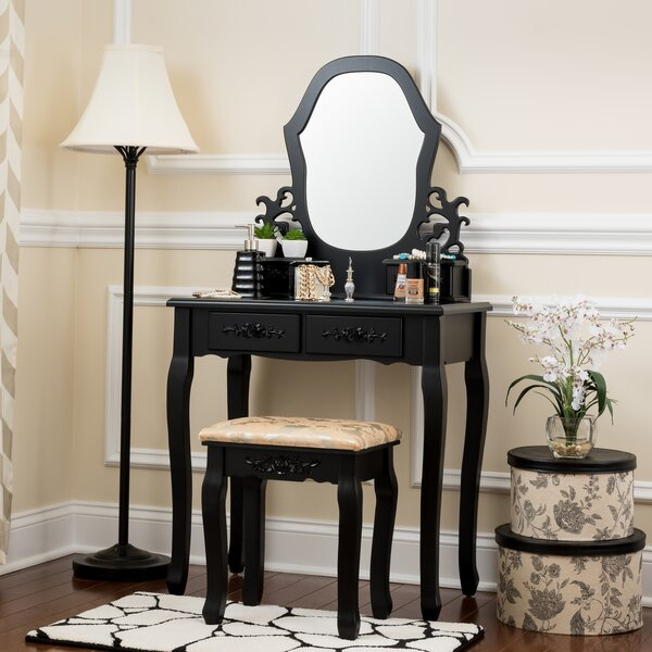 Pagedale Vanity Set with Mirror by House of Hampton