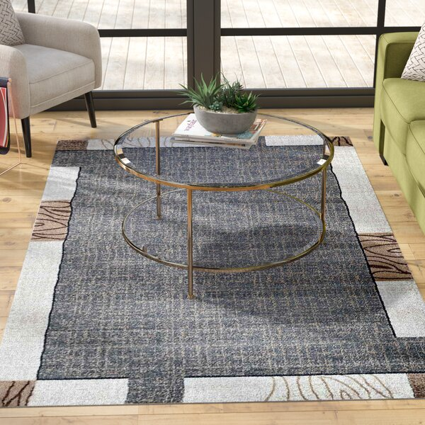 Lina Beige Area Rug by Ebern Designs
