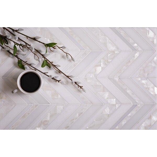 0.422 x 0.125 Marble Chevron Mosaic Tile
