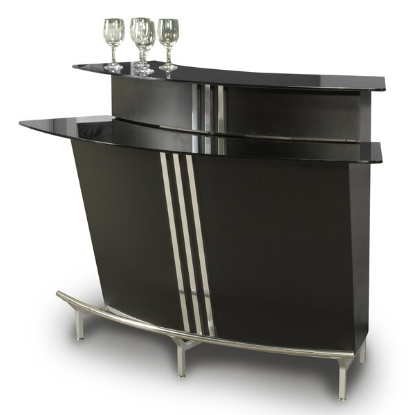 Broadway Bar With Wine Storage By Orren Ellis