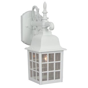 Compare prices Bentonville 1-Light Outdoor Wall Lantern By Alcott Hill