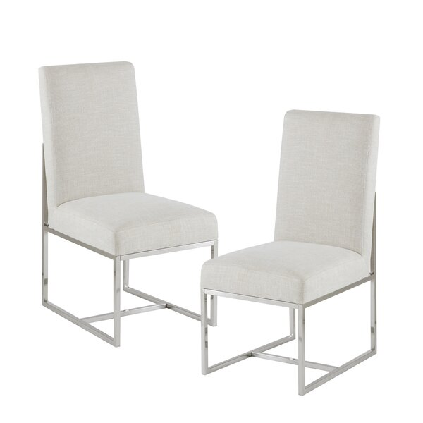 Morven Upholstered Dining Chair (Set of 2) by Everly Quinn