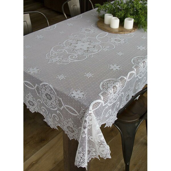 Snowflake Tablecloth by The Holiday Aisle