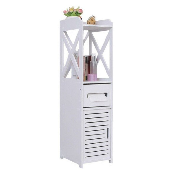 Swader 9 W x 32 H x 9 D Free-Standing Bathroom Cabinet