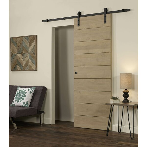 Horizontal Solid Wood Interior Barn Door by LTL Barn Doors