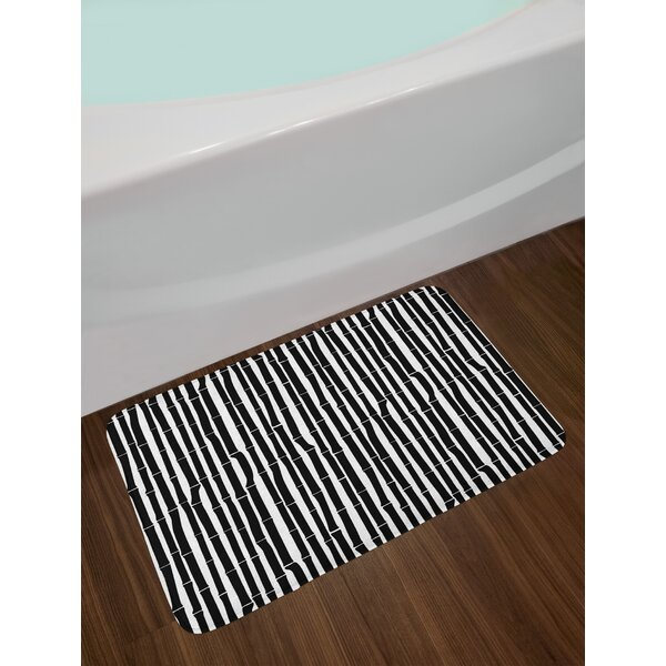 Rayon from  Bamboo Tropical Bath Rug by East Urban Home
