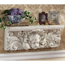 Cathedral Cherub Sculptural Wall Shelf by Design Toscano