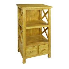 Crosshatch 34 Accent Shelves Bookcase by Antique Revival