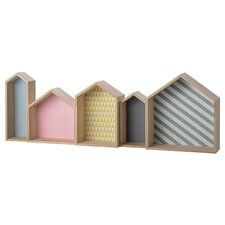 House Shaped Wood Display Box by Bloomingville