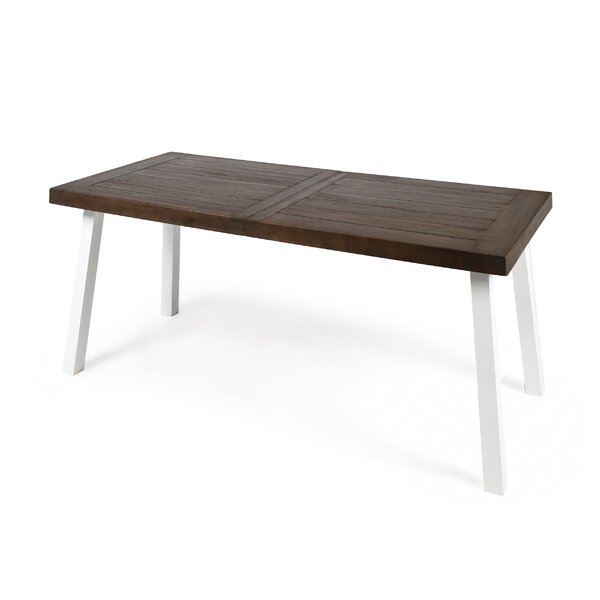 Dyer Avenue Outdoor Acacia Wood Dining Table by Breakwater Bay