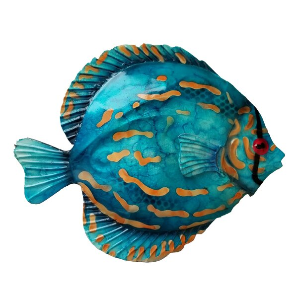 Coastal Discus Fish Metal Wall Decor by Highland Dunes