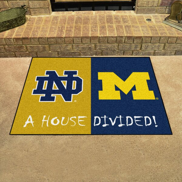 House Divided - Notre Dame / Michigan Doormat by FANMATS