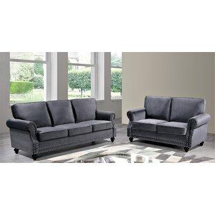 Esqueda Minimalist 2 Piece Standard Living Room Set by House of Hampton®