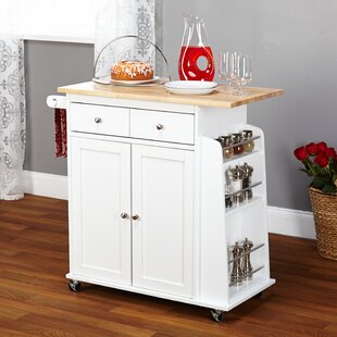 Best Choices Ferraro Kitchen Cart with Wooden Top by Alcott Hill