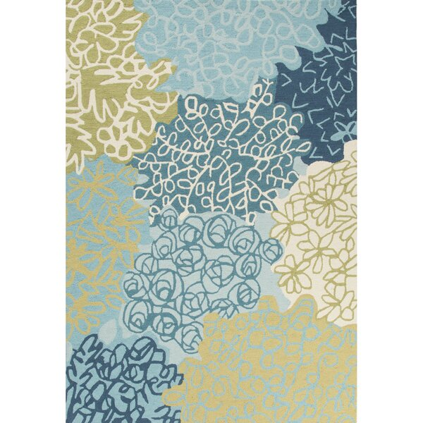 Capucina Hand-Tufted Blue/Green Area Rug by Ebern Designs