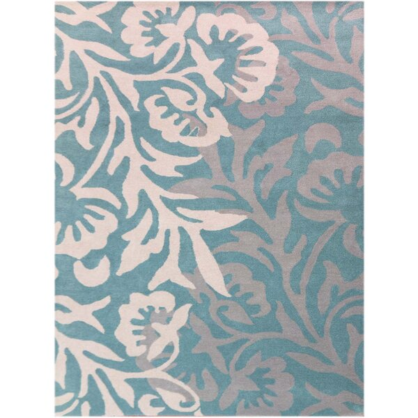 Crewe Hand-Tufted Blue Area Rug by House of Hampton