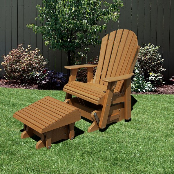 Patricia Plastic Adirondack Chair with Ottoman by Rosecliff Heights