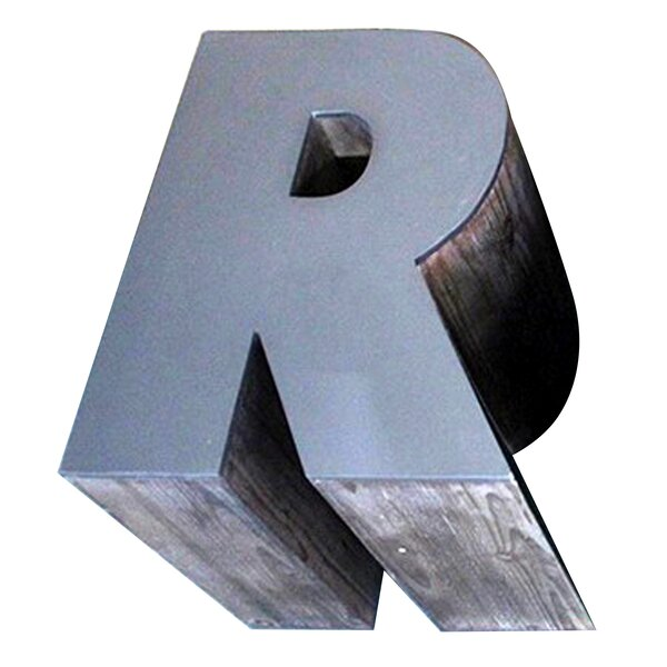 Letter-shaped (R) Wooden Accent Stool by Jeco Inc.
