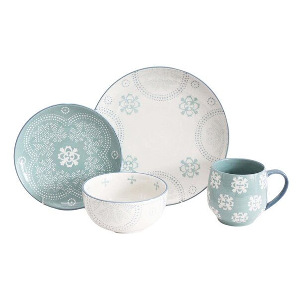 Phara 16 Piece Dinnerware Set, Service for 4 by Baum