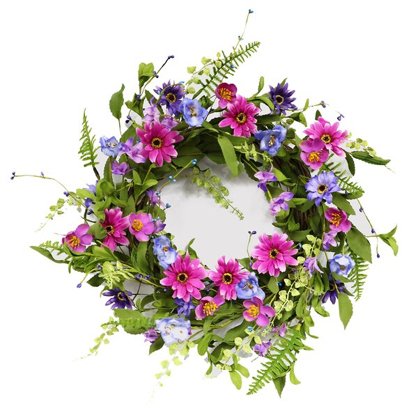 Artificial Chrysanthemum 20 Wreath by August Grove