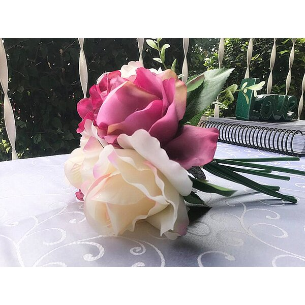 Artificial Flowers Rose Hydrangea Bundle Mixed Floral Arrangement by House of Hampton