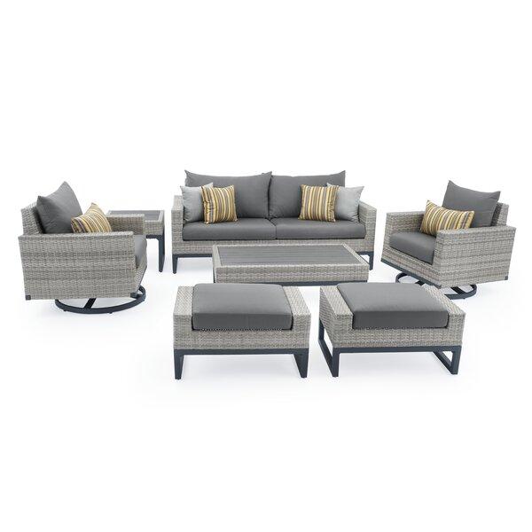 Minor Motion 7 Piece Rattan Sunbrella Sofa Seating Group with Cushions