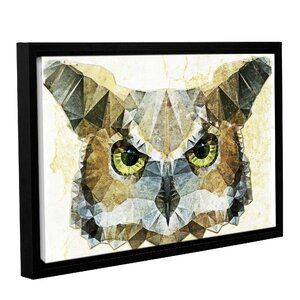 Abstract Owl Graphic Art on Wrapped Canvas by Loon Peak
