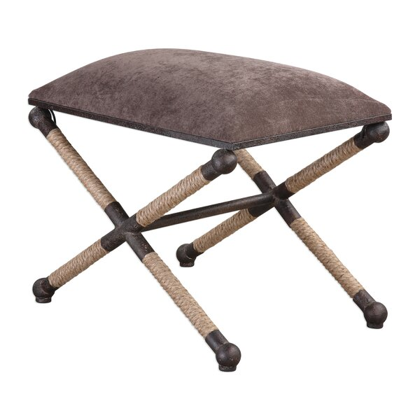 Juliette Taupe Accent Stool by Mistana