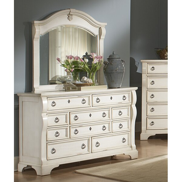 Rosehill 10 Drawer Dresser with Mirror by Lark Manor