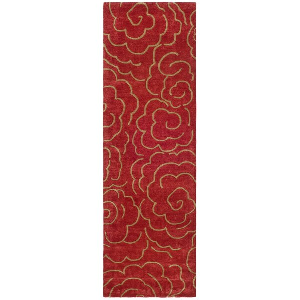 Karuna Hand-Tufted Wool Red/Tan Area Rug