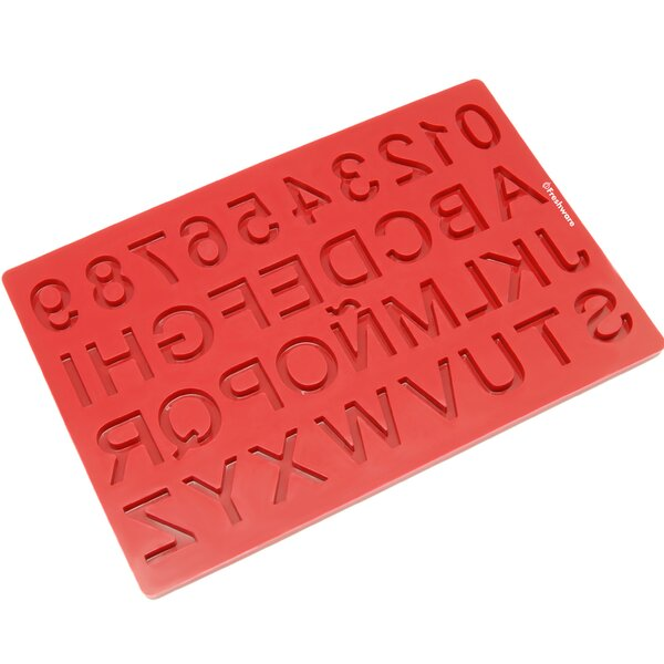 37 Cavity Alphabet and Number Silicone Mold Pan by Freshware