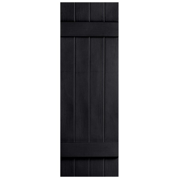 Exterior Vinyl 4 Board N Batten Closed Shutter (Set of 2) by Alpha Shutters