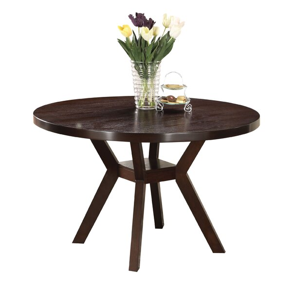 Keziah Round Wooden Dining Table by Ebern Designs