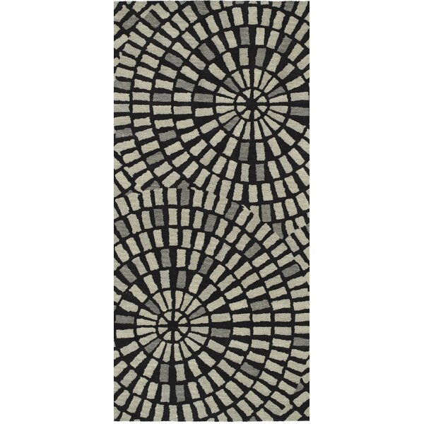 Marut Hand Tufted Black/Gray Area Rug by Red Barrel Studio