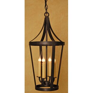 Find Boston 4-Light Outdoor Hanging Lantern By Laura Lee Designs