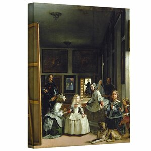 'Las Meninas or the Family of Philip IV' by Diego Velazquez Painting Print on Wrapped Canvas by ArtWall