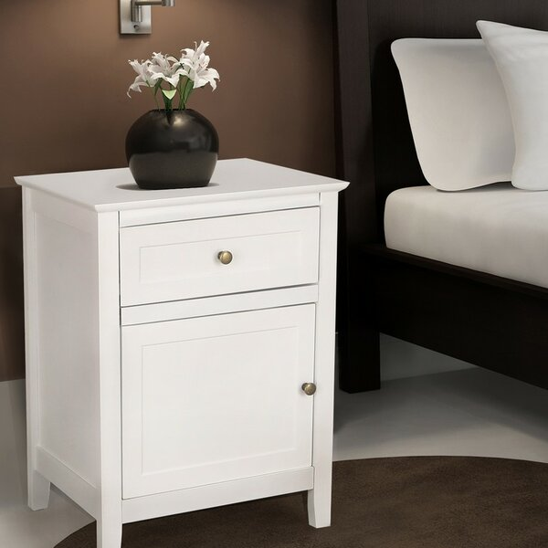 1 Drawer Nightstand [Adeco Trading]